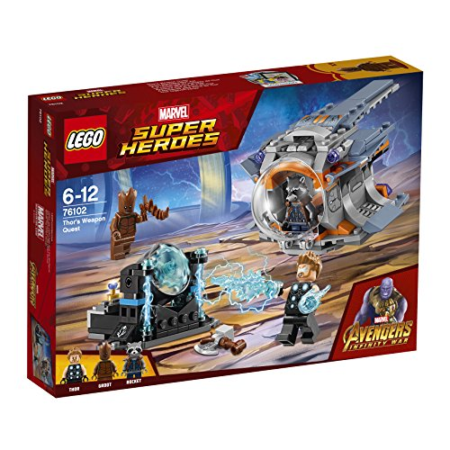 LEGO  Marvel Super Heroes Thors Waffenmission 76102 Superheldenspielzeug (Lego Super Heroes-thor)