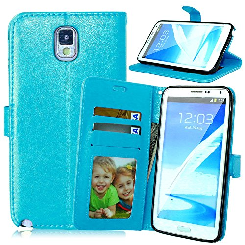 Nancen Compatible with Handyhülle Galaxy Note 3 / N9000 (5,7 Zoll) Lederhülle Style Acht Farbe Weich PU Flip Case Ledertasche/Schutz Etui, Karten Slot Foto Wallet Hülle (Wwe-uhr)