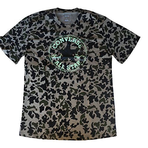 Converse Men's All Star Chuck Taylor Patch Tee T-Shirt (Camouflage, Large)