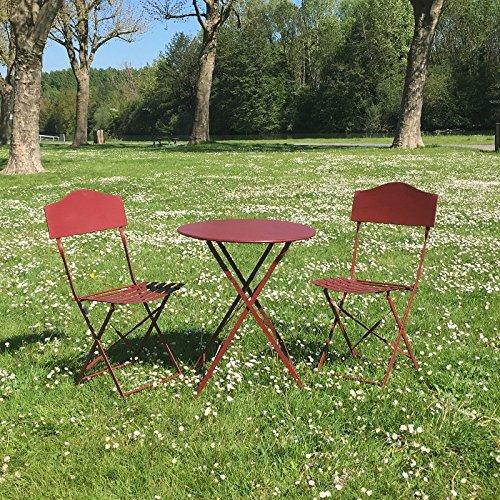 Mesa 2Sillas de jardín en hierro plegable salón de segunda mano  Se entrega en toda España