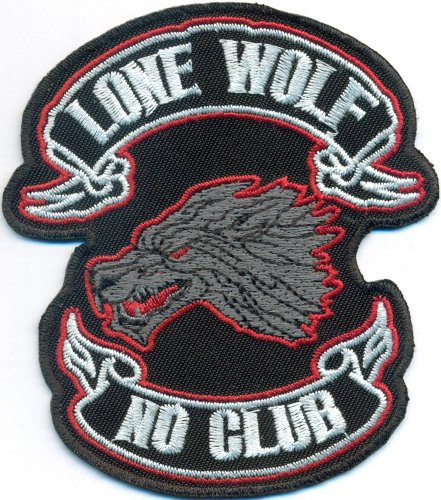 LONEWOLF Lone Wolf No Club Pack Biker Motorcycleclub MC Aufnäher Patch