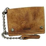 Borsello per ciclisti in pelle con catena, portafoglio, portamonete, borsetta, 13,5 cm colore: beige, beige