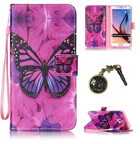 Preisvergleich Produktbild für Smartphone Samsung Galaxy S6 Edge Plus Hülle, Klappetui Flip Cover Tasche Leder [Kartenfächer] Schutzhülle Lederbrieftasche Executive Design (+Staubstecker (7OO)