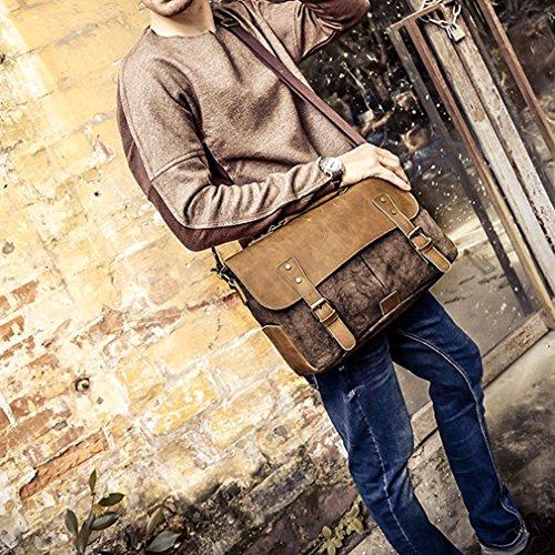 YanRun , Borsa Messenger  Uomo multicolore Brown Brown