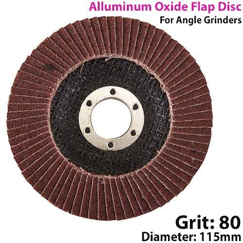 Preisvergleich Produktbild 115 mm 80 Körnung Aluminum Oxide Fächerscheibe - Abschleifen-Egalisierunsbrett - für Winkelschleifer Grinde