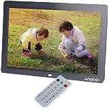 Andoer® 12 Zoll HD TFT-LCD 1280 * 800 Vollansicht Digitaler Bilderrahmen Wecker MP3 MP4 Video-Player mit Remote Desktop