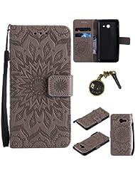 PU Coque pour Samsung Galaxy J5 (2017) , Multifonction Case Wallet Cover Etui en cuir Étui de protection flip Wallet stand Cover avec des fentes de cartes pour Samsung Galaxy J5 (2017) +Bouchons de poussière (8)