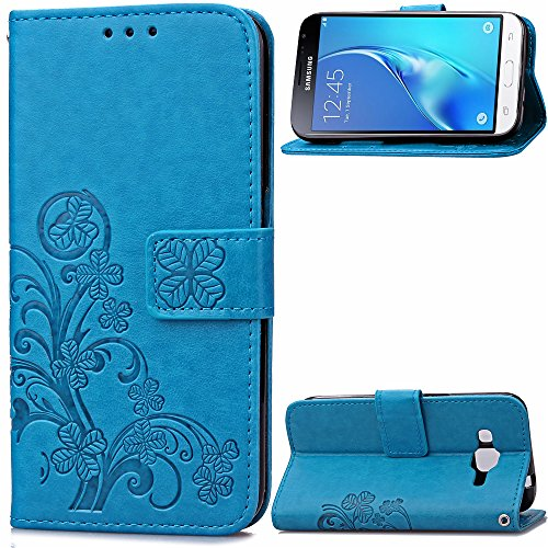 samsung-galaxy-j3-case-leather-ecoway-clover-embossed-patterned-pu-leather-stand-function-protective