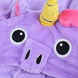 Einhorn Kostüm Erwachsene Tier Jumpsuits Onesie Pyjama Nachthemd Nachtwäsche Cosplay Overall Hausanzug Fastnachtskostuem Karnevalskostüme Faschingskostüm Kapuzenkostüm (M: Für Ihre Höhe :161 - 170cm, Violett) -