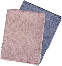 Cladien Men's Unstitched Cotton Linen Shirt Fabric Multicolour_2.5 M - Pack of 2