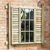 zest4leisure 130,5x 157x 0,35cm Schneeglöckchen Spiegel–Holz