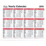 Letts 2016 Yearly Calendar
