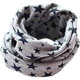 San Bodhi® Stars pattern Kids Cotton Neckerchief baby Boy Girl Scarves Shawl Winter warm Knitting Neck Scarf