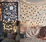 10M100LED String Lights with 50PCS Photo Clips LED Photo Clip String Lights Absofine Picture Frames Wall Decor - Christmas, Party, Dorm, Home, Bedroom Decorations