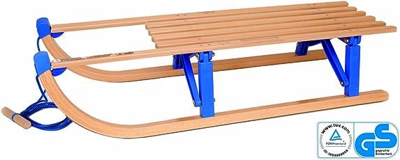 Tashiro Fun Klappschlitten inkl. Schlittenleine, buche / blau, 100x35x25, TÜV/GS zertifiziert