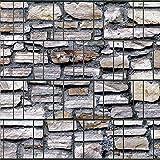 Sichtschutzstreifen zum Einflechten inkl. Klemmschienen Motiv Marmormauer