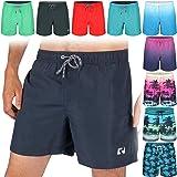 Ript Essentials Men's Quick Dry UV 50 Sun Protection Peach Finish Swimming Swim Shorts Trunks