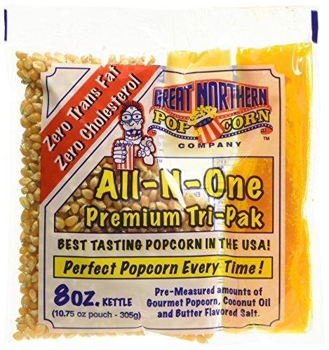 Great Northern Popcorn 8 oz. Popcorn Portion Packs - Case of 24 by Great Northern Popcorn Company Portion Case Pack
