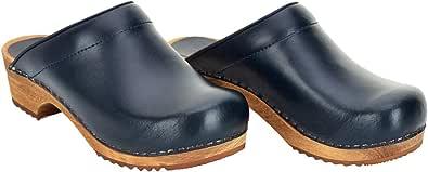 Sanita Lars Mule Clog | Original Handmade Wooden Leather Clog for Men