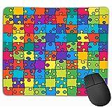 FJXXM Tappetino Mouse Ultra Sottile,Tappetino per Il Mouse per Il Design Personalizzato Tappetino per Il Mouse Tappetino per Mouse di Gomma Oblungo 25X30Cm Contorno Colore Puzzle Banner Banner Sfondo