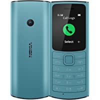 Nokia 110 4G with Volte HD Calls, Up to 32GB External Memory, FM Radio (Wired & Wireless Dual Mode), Games, Torch   Aqua