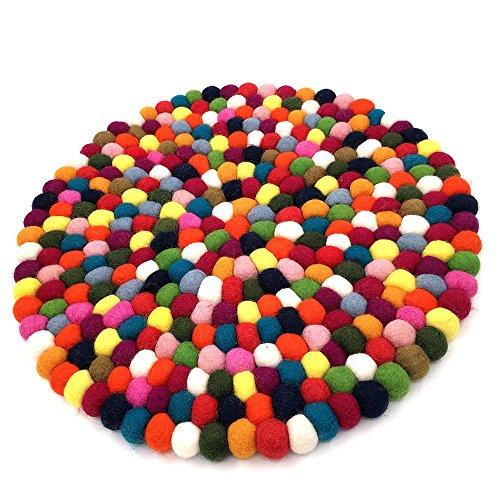 39,9cm handgefertigt Wolle Filz Sitzkissen, Auto-Kissen, Stuhl Pad Colorful Round Cushion
