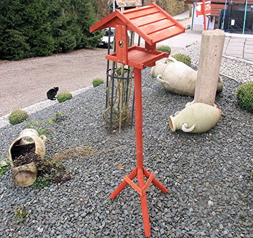 Vogelhaus BIRD OASIS Vogelvilla Futterhaus Vogelhäuschen mit Ständer Vogel Holz - 5