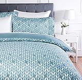 AmazonBasics - Juego de ropa de cama con funda de edredón, de microfibra, 135 x 200 cm, Gris hoja (Grey Leaf)