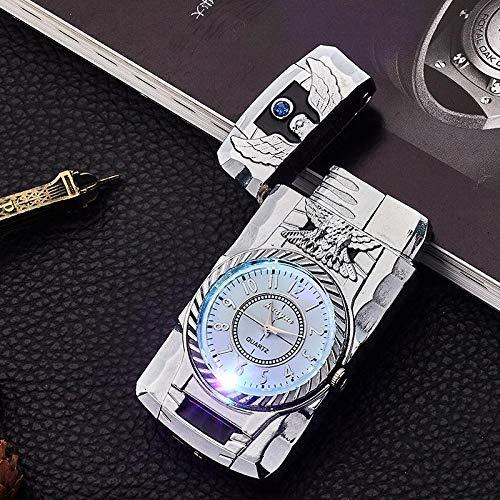 TYGJ Luxury LED Quartz Watch Lighter Gold Eagle Wolf Lizard Gas Lighters...