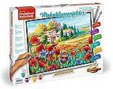 Noris Spiele Schipper 609430727 - Malen nach Zahlen Flachpinseltechnik - Mohnblumenfelder, 40 x 50 cm