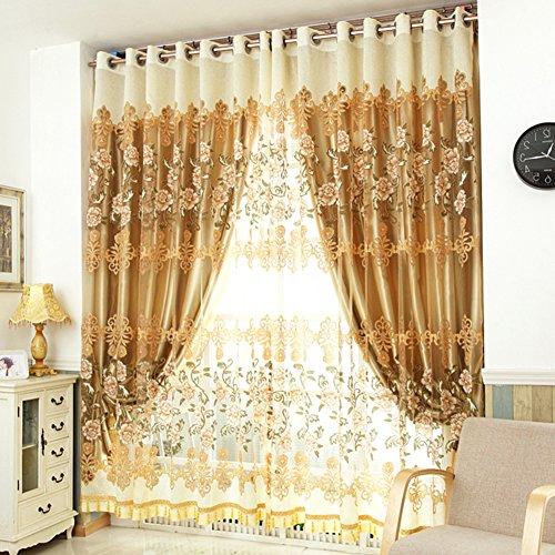 Haoly tende oscuranti,doppia semplice moderna ombra bayow tende da finestra,camera da letto da terra tenda della finestra,per soggiorno camera da letto 1pcs-e 150x270cm(59x106inch)