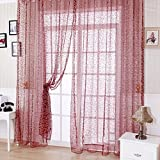 Cortinas de tul drapeadas con cenefas transparentes, para puertas o ventanas. Ideales para tu habitación, baño, living o para el dormitorio de los niños