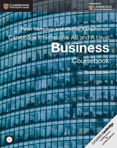 Cambridge International AS and A Level Business. Coursebook. Con CD-ROM (Cambridge International Examinations)