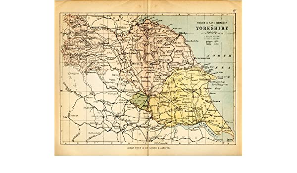 Yorkshire Historic Map: 1882 Colour - North & East Ridings of ... on hartlepool england map, south downs england map, north yorkshire map, north yorkshire, uk england road map, york england map, sussex england map, scotland map, west yorkshire, rome england map, united kingdom map, trowbridge england map, glossop england map, hampshire england map, wales map, st bees england map, derbyshire england map, london england map, lincolnshire map, horley england map, leeds england map, northumberland england map,