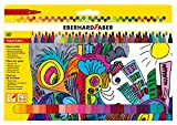 Eberhard Faber 551150 - Fasermaler mit dünner Spitze, 50er Kartonetui