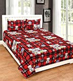 #7: Veer Fab Present 3D Double Bedsheet 90 X90 With 2 Pillow Cover 17X27