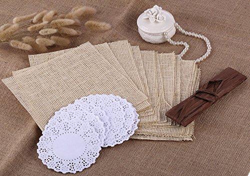 ustikal Konfetti-Kegel mit Papier-Tortenspitzen aus Papier, für Hochzeiten, Partys, Sackleinen (Sackleinen Papier)