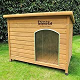 Kennels Imperial Large Insulated Wooden Norfolk Dog Kennel With Removable Floor For Easy Cleaning