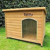 Große, isolierte Norfolk Hundehütte aus Holz mit entfernbarem Boden zur einfachen Reinigung A