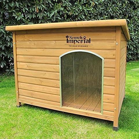 Große, isolierte Norfolk Hundehütte aus Holz mit entfernbarem Boden zur einfachen Reinigung (Canile Pannello)