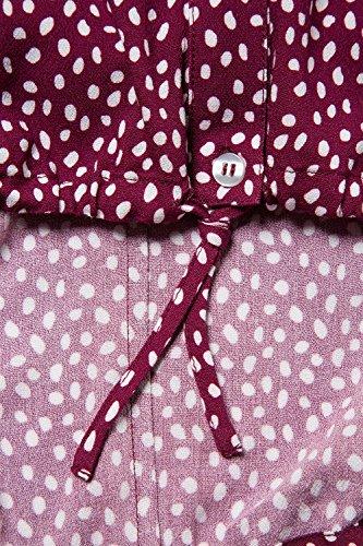Ulla Popken Femme Grandes tailles Blouse Fashion Sexy Chemisier Haut Eté Manches 3/4 Casual Shirt Tops 706288 framboise foncé