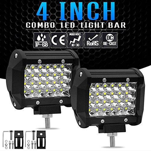 200W LED Arbeit Licht wasserdicht IP68 Arbeitslicht Pole Floodlight Kombination Pod fahren Offroad-Traktor 4WD SUV, 9~30V, 24 * 3W starke LED, schwarz.