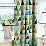 Ruiboury Dreieck Blockout Fenster Vorhang verdicken Stoff Kind-Vorhang Eyelet