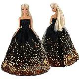 Miunana Kleidung Dress Kleider Abendkleid Prinzessin Partykleider für Barbie Puppen Xmas Geschenke Weihnachten
