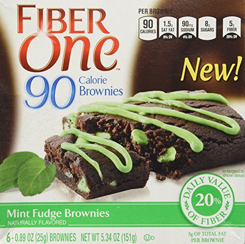 general-mills-fiber-one-90-calorie-mint-fudge-brownies-6-count-534oz-box-pack-of-3