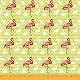 Soimoi Flamingo Vogel Print 180 GSM 60 Zoll Breite