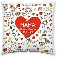 Sheepworld 42911 Baumwoll-Kissen mit Spruch Mama, Danke, Dass es Dich Gibt, Geschenk Mama, 40 cm x 40 cm