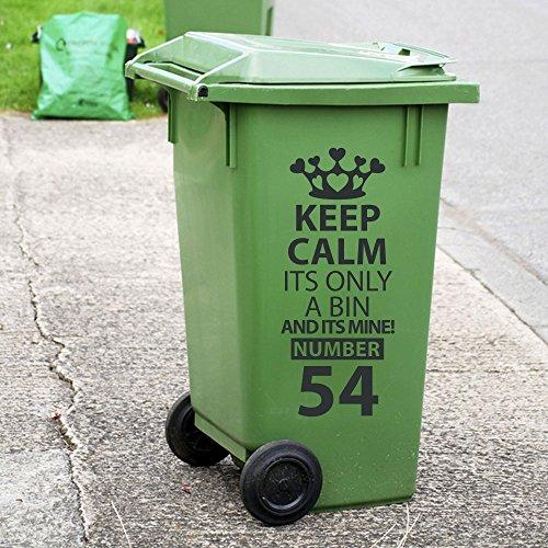 Papelera de reciclaje de basura con ruedas personalizado adhesivos pegatinas de vinilo de cubo...