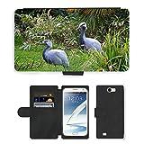 Just Cover Hot Stil Handy Karte Slot Hülle/Case/Brieftasche aus PU-Leder/m00139714Crane Kraniche Blue Crane Bird Animal//Samsung Galaxy Note 2II N7100