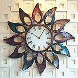 ZHDC® Orologio da parete Stile Europeo di personalità del ferro orologio di parete creativo di girasole salone Orologio da parete Art Clock Orologio da tasca Home wall clock